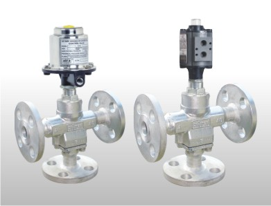 double acting high pressure control valve