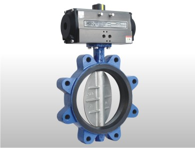 pneumatic lug and wafer type butterfly valve