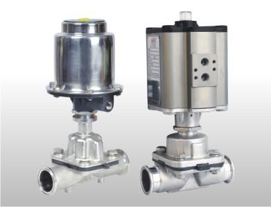 aluminum actuator diaphragm valve