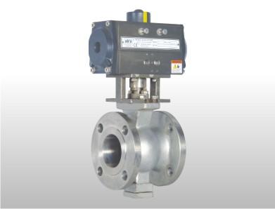 pneumatic v knotch ball valve