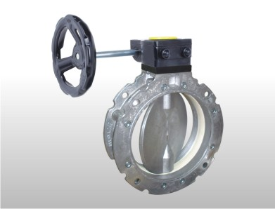 Handle operated CEMENT DOUBLE FLANGE Butterfly valve