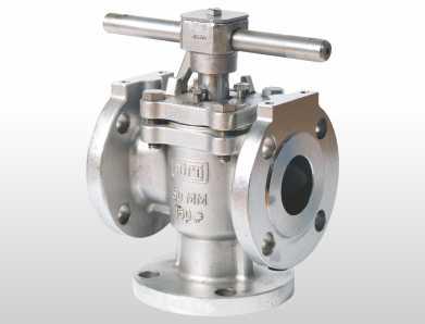 3 way plug valve flanged