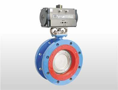 Triple offset double flange butterfly valve